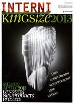 NICCHIA / Interni Kingsize 2013. Supplemento a Interni N.4 - aprile 2013, p.29.